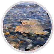 Beauty On The Shore Round Beach Towel