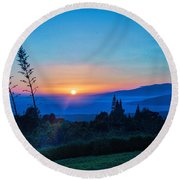 Beauty On The Water Round Beach Towel