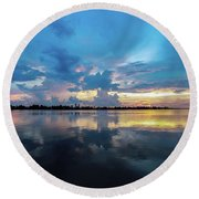 Beauty Over The Water Round Beach Towel