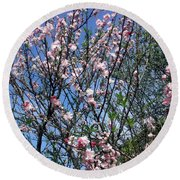 Beautiful Spring. Blooming Tree 2 Round Beach Towel