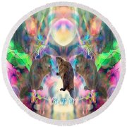 Beaver Moon Round Beach Towel