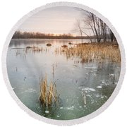 Beaver Place Round Beach Towel