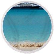 Beckoning Round Beach Towel by Karen Wiles