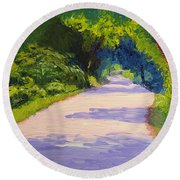Beckoning Trail Round Beach Towel