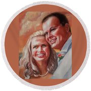 Becky And Chris Round Beach Towel