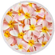 Bed Of Light Round Beach Towel
