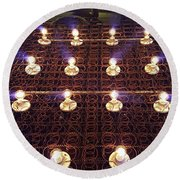 Bed Spring Lights Round Beach Towel