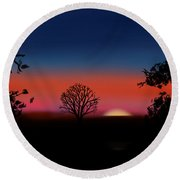Bed Time Sunny Round Beach Towel