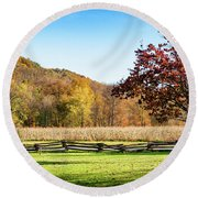 Bedford, Pa Fall Landscape Round Beach Towel