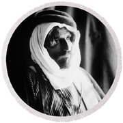 Bedouin Man, C1910 Round Beach Towel