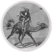 Bedouin Messenger Round Beach Towel