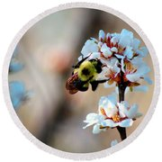 Bee Blossom Round Beach Towel