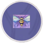 Bee For A Little Bee Round Beach Towel