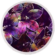 Bee Insect Close Macro Flower  Round Beach Towel