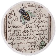 Bee You Round Beach Towel