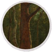 Beech Tree Round Beach Towel