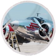 Beechcraft C-45h Round Beach Towel