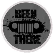 Been There In A Jeep Round Beach Towel