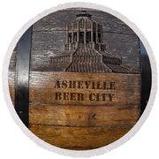 Beer Barrel City Round Beach Towel
