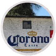 Beer In Mexico Round Beach Towel