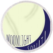 Beethoven Moonlight Sonata Round Beach Towel