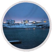 Before Dawn Reine Lofoten Round Beach Towel