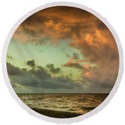 Before Sunrise Round Beach Towel
