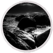 Before The Storm - Seascape Round Beach Towel