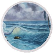 Before The Storm Round Beach Towel