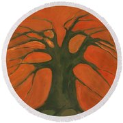 Beginning Of Life Round Beach Towel
