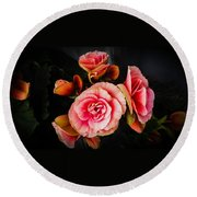 Begonia In Pink Round Beach Towel