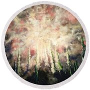 Behind The Light Round Beach Towel