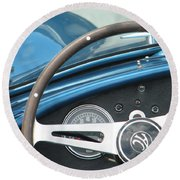 Behind The Wheel Round Beach Towel