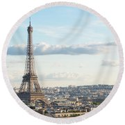 Paris Roofs And Tower Round Beach Towel