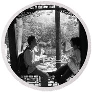 Beijing City 14 Round Beach Towel