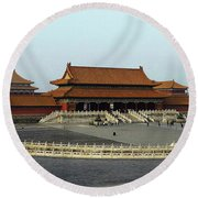 Beijing City 28 Round Beach Towel