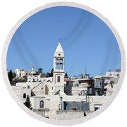 Beit Jala Christian Town Round Beach Towel