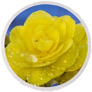 Bejeweled Begonia Round Beach Towel