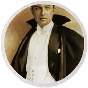 Bela Lugosi As Dracula Round Beach Towel