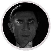 Bela Lugosi  Dracula 1931 And His Piercing Eyes Round Beach Towel