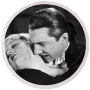 Bela Lugosi  Dracula 1931  Feast On Mina Helen Chandler Round Beach Towel