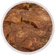 Belfast Petroglyph 6 Round Beach Towel