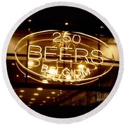 Belgian Beer Sign Round Beach Towel