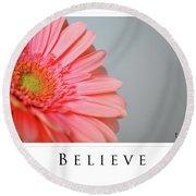 Believe Round Beach Towel