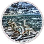 Belize Beach Chair #2 Round Beach Towel