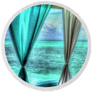 Belize Curtains #1 Round Beach Towel