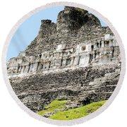Belize Mayan Ruins  Round Beach Towel