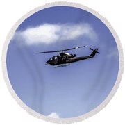 Bell Cobra Helicopter Round Beach Towel