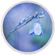 Bell Flower Round Beach Towel