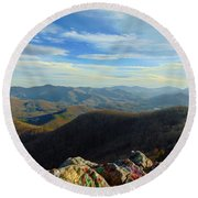 Bell Mountain Round Beach Towel